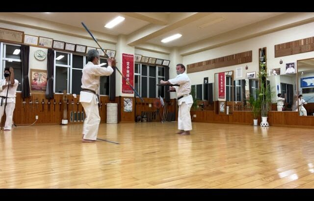 Bo vs Tunfa, Shimbukan Hombu Okinawa #okinawa #信武舘 #shimbukan #古武道 #karate #kobudo
