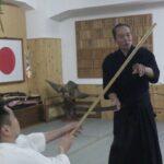 古武道 大東流合気柔術武門会 杖・薙刀・槍などの長物を素手にて取り上げ返す技です。