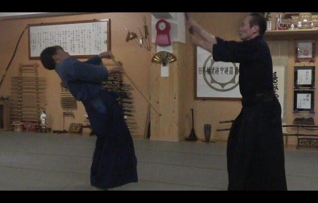 古武道 大東流合気柔術武門会 長物に対して剣術の対処法は呼吸と合気術の気剣体一致
