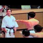 1997年『沖縄空手古武道世界大会』上地流合同演武(山口正舟撮影)