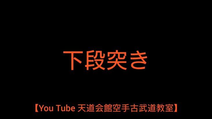 【You Tube 天道会館空手古武道教室】下段突き