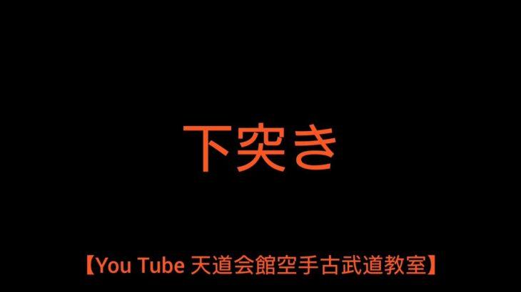 【You Tube 天道会館空手古武道教室】下突き