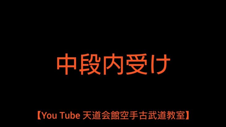 【You Tube 天道会館空手古武道教室】中段内受け