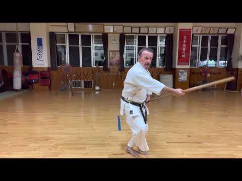 Practicing a segment of Sakugawa Sho #信武舘 #古武道 #karate #shimbukan #okinawa #空手 #kobudo #沖縄