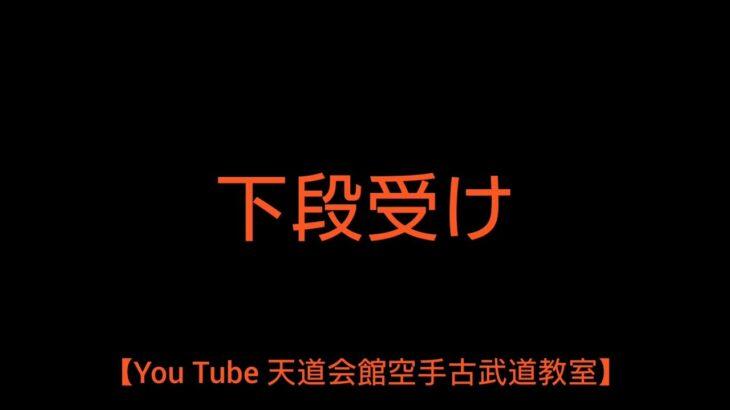 【You Tube 天道会館空手古武道教室】下段受け