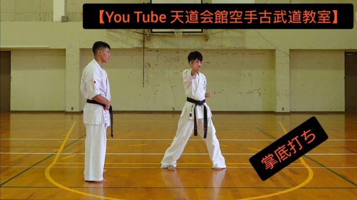 【You Tube 天道会館空手古武道教室】掌底打ち