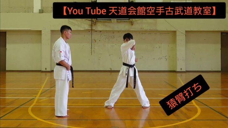 【You Tube 天道会館空手古武道教室】猿臂打ち