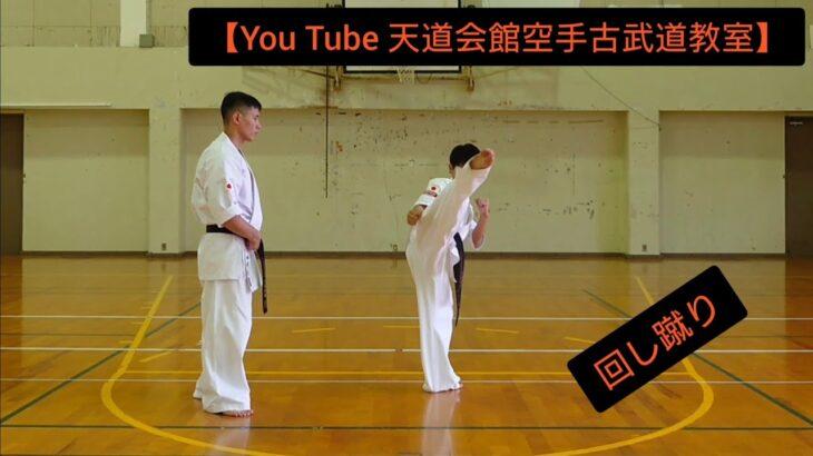 【You Tube 天道会館空手古武道教室】回し蹴り