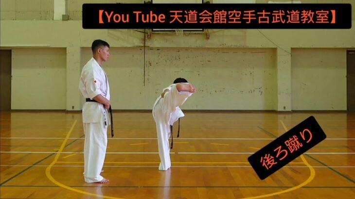【You Tube 天道会館空手古武道教室】後ろ蹴り